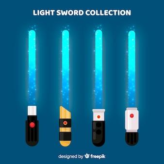 カラフルな光の剣のコレクション