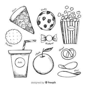 Коллекция вкусных закусок