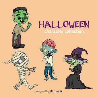 Коллекция рукописного симпатичного хэллоуина