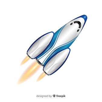 リアルなデザインのモダンロケット