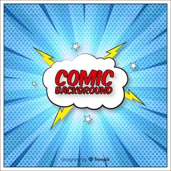 ハーフトーンスタイルのコミックまたはスーパーヒーローの背景