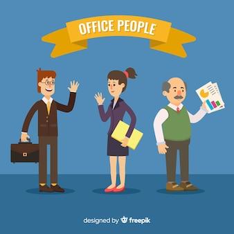 フラットなデザインの現代ビジネスの人々