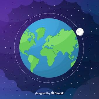 宇宙での地球のデザイン