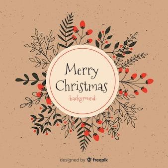 素敵な手描きのクリスマスの背景