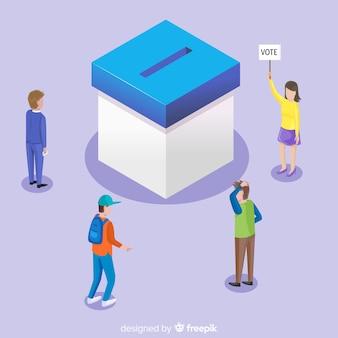 Изометрический вид избирательной ячейки
