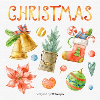 素敵な手描きのクリスマス要素コレクション