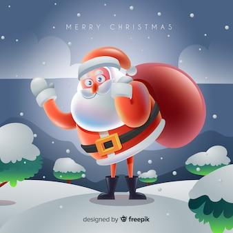 現実的なデザインと素敵なクリスマスの背景