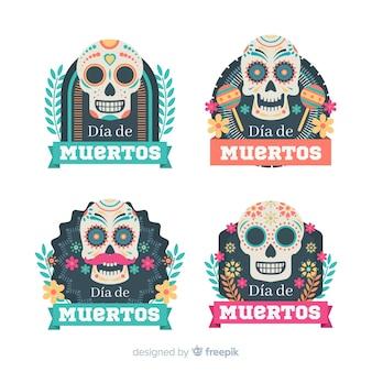 フラットデザインの素敵なメキシコのお祝いのバッジコレクション