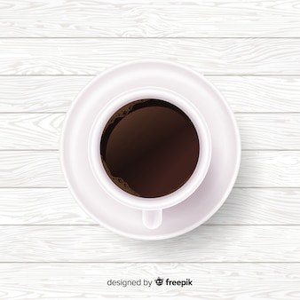 現実的なコーヒーカップの背景