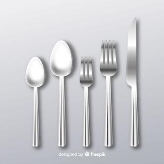 現実的な食器の背景
