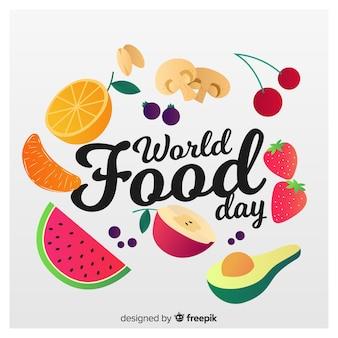 世界の食べ物の日の背景