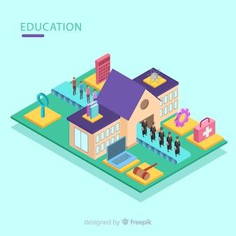 現代教育概念の等角図