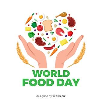 現代の世界の食品の日の背景のコンセプト