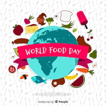 世界の食べ物の背景概念