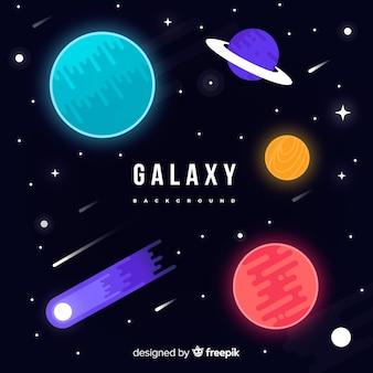 銀河の背景デザイン