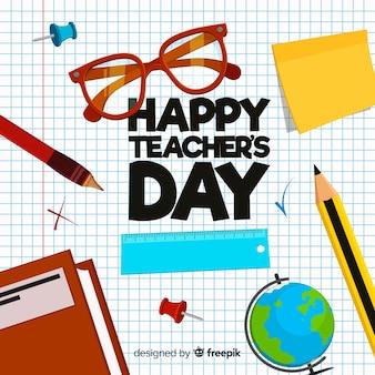 創造的な世界の教師の日の背景のデザイン