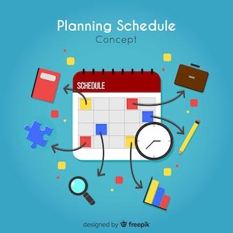クリエイティブな計画スケジュールコンセプト