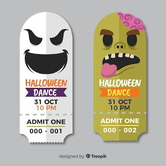 Хэллоуинский шаблон для билета
