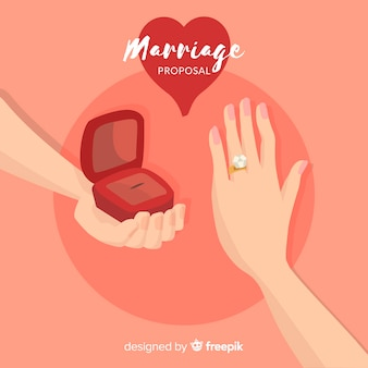 手描きの結婚提案書の構成