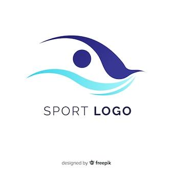 抽象的なデザインのモダンスポーツロゴテンプレート