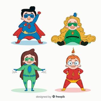 スーパーヒーローの子供のパック