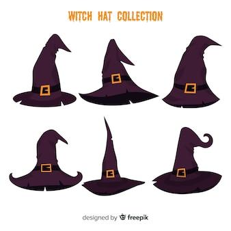 素敵な手描きの魔女帽子コレクション