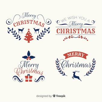 ヴィンテージスタイルの素敵なクリスマスラベルコレクション