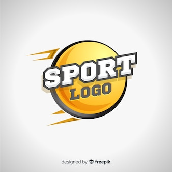 抽象的なスポーツロゴテンプレート
