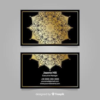 Декоративная визитная карточка в стиле мандалы