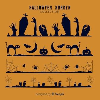ハロウィンの国境のセット