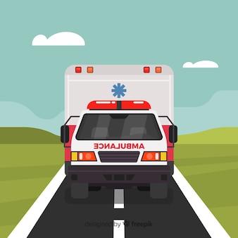 フラット救急車