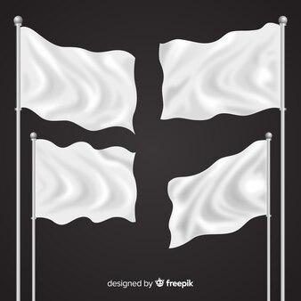 Реалистичная коллекция флагов текстиля