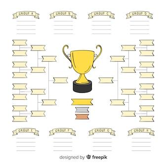 現代手描きのトーナメントスケジュール