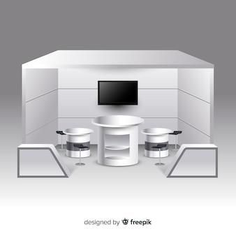 Современный стенд с реалистичным дизайном