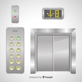 ボタン付きエレベーター