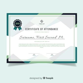 Современный шаблон сертификата в плоском дизайне