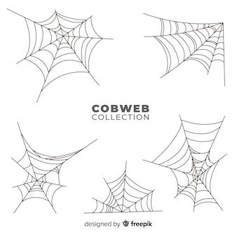 ハロウィーンのクモの巣のセット