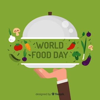 創造的な世界の食品の日の背景