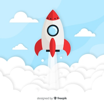 Плоский ракетный фон