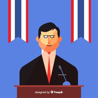 政治家の選挙スピーチ