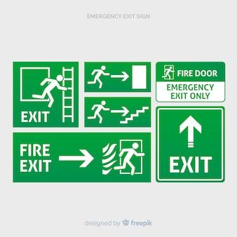 様々な出口標識