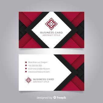 Абстрактный шаблон визитной карточки с геометрическими фигурами