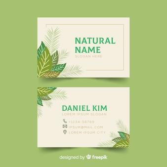 自然の概念を持つ創造的な名刺テンプレート