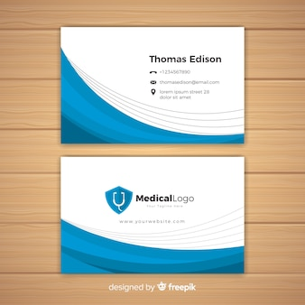 病院や医者のための近代的な名刺のコンセプト