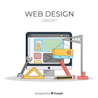 Прекрасная концепция дизайна веб-дизайна