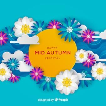 美しい中秋の祭りの背景デザイン