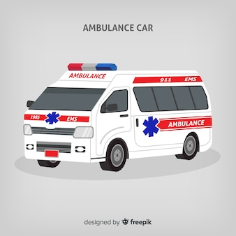 フラットな救急車のコンセプト