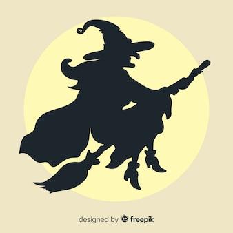 ハロウィーンの魔女の背景