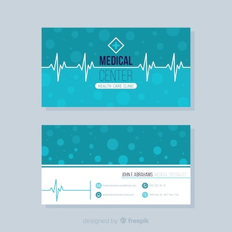 病院や医者のためのエレガントな名刺のコンセプト