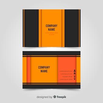 Профессиональный шаблон визитной карточки в элегантном дизайне